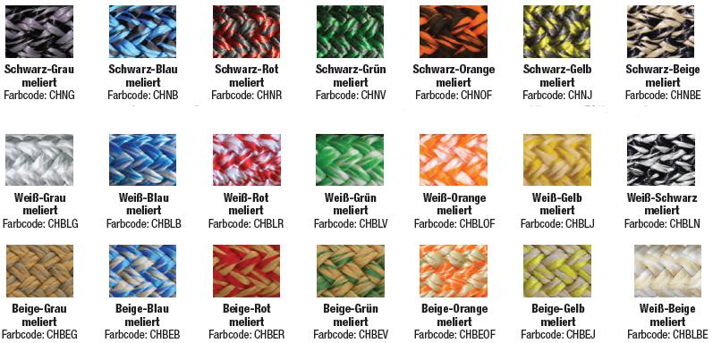 Melierte Farben Tabelle 4